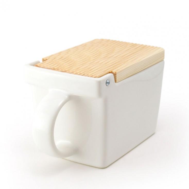 Zero Japan Salt Box - White