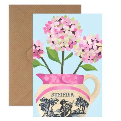 Susie Hamilton Hydrangea Greeting Card