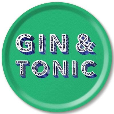 Asta Barrington Gin & Tonic Round Tray By Jamida