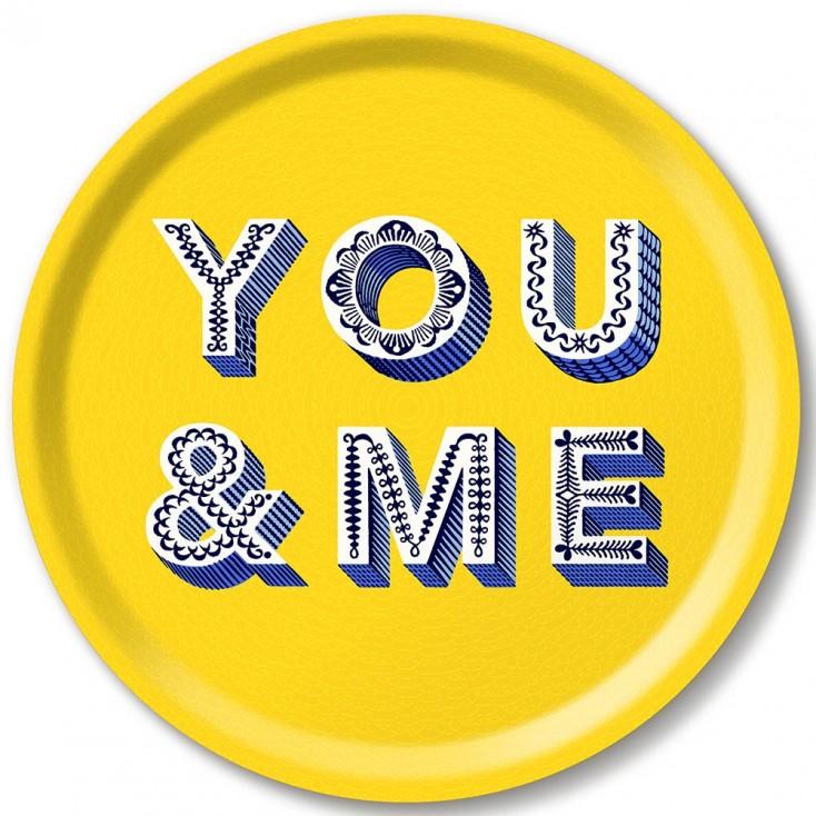 Asta Barrington You & Me Round Tray By Jamida
