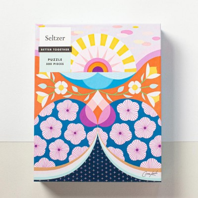 Seltzer Sunshine Flowers 500 Piece Jigsaw Puzzle