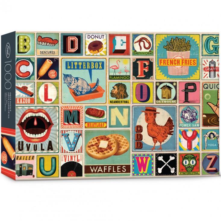 XYZ Blocks 1000 Piece Jigsaw Puzzle