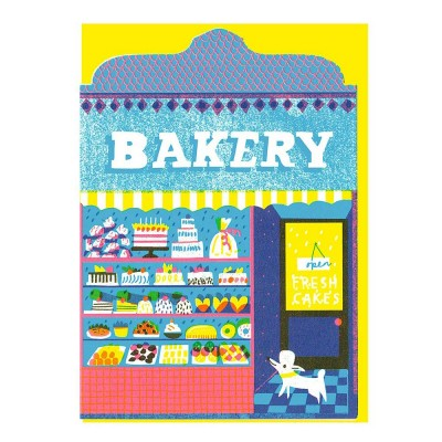 PThe Printed Peanut Bakery Shop Die Cut Greeting Card