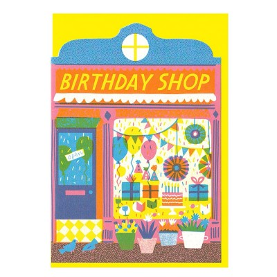 Birthday Shop Die Cut Greeting Card