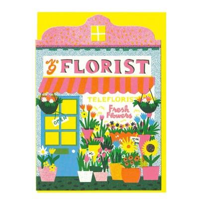 The Printed Peanut Florist Shop Die Cut Greeting Card