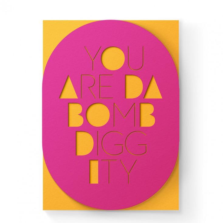 Dear Beni Da Bomb Sleeve Greeting Card