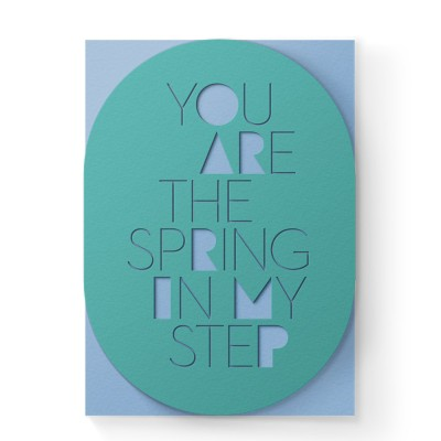 Dear Beni Spring in Step Sleeve Laser-Cut Greeting Card Collection