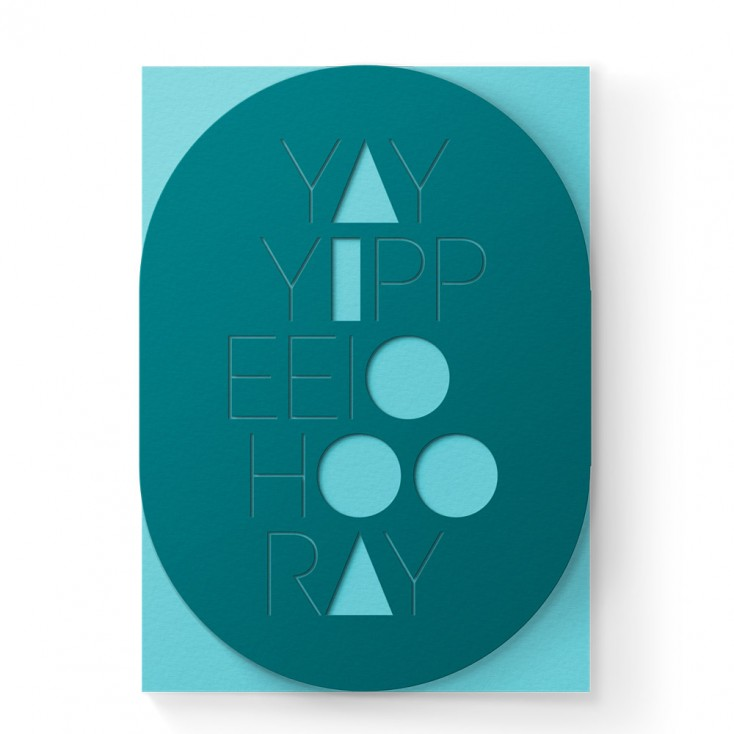 Dear Beni Yay Hooray Laser-Cut Greeting Card