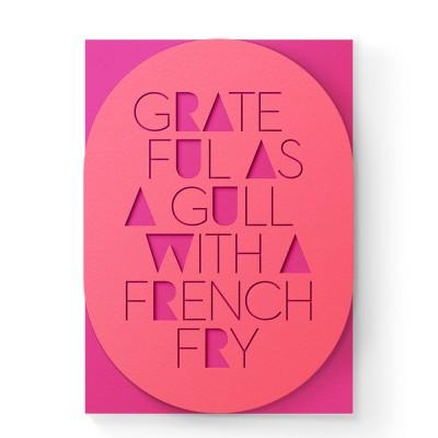 Dear Beni Grateful Gulls Laser-Cut Greeting Card