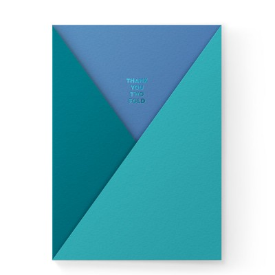 Dear Beni Thank You Two Fold Pocket Greeting Card