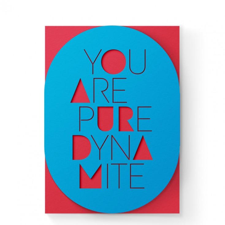 Dear Beni Dynamite A6 Sleeve Greeting Card