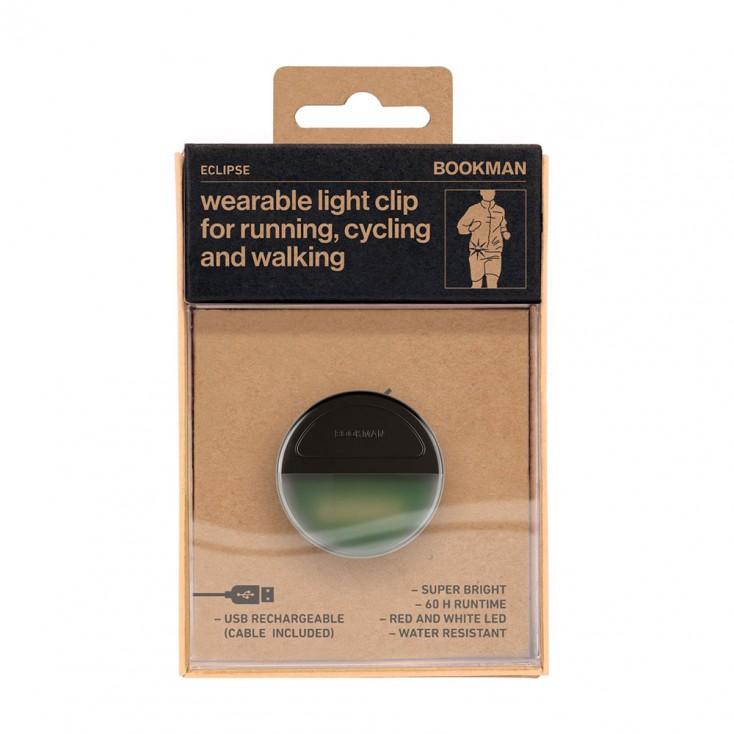 Bookman Eclipse Wearable Light Clip - Green