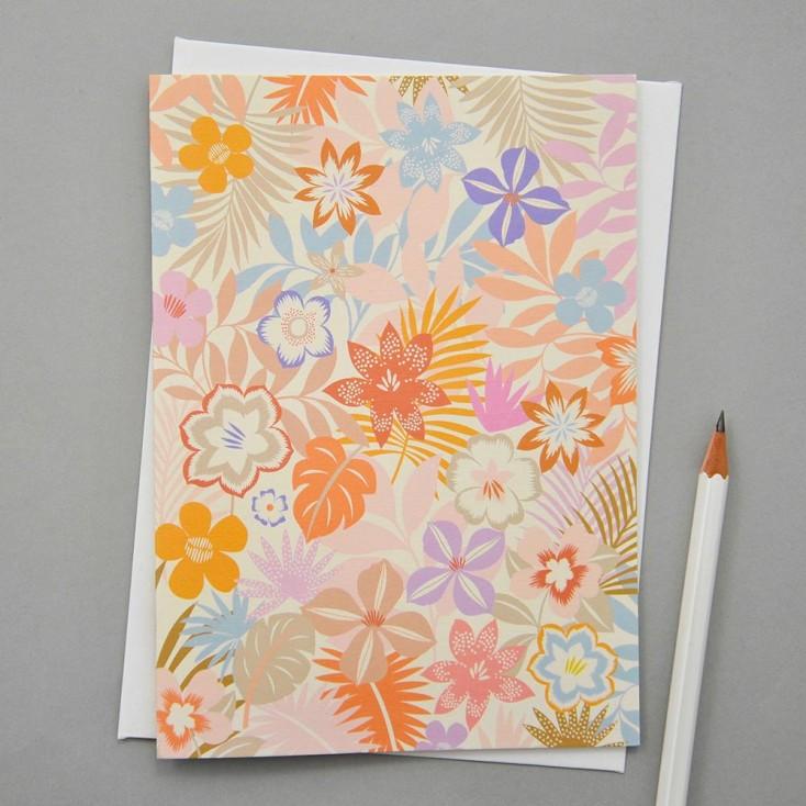Elvira Van Vredenburgh Botanic in Pastel Greeting Card