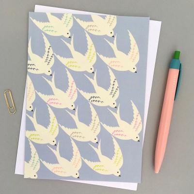 Elvira Van Vredenburgh 'Flying In' Greeting Card