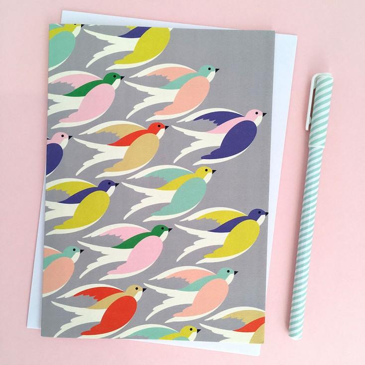 Elvira Van Vredenburgh Birds Inflight Greetings Card