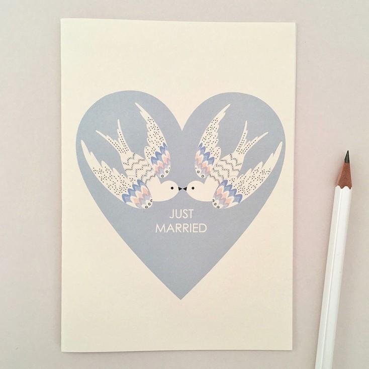 Elvira Van Vredenburgh Just Married Card