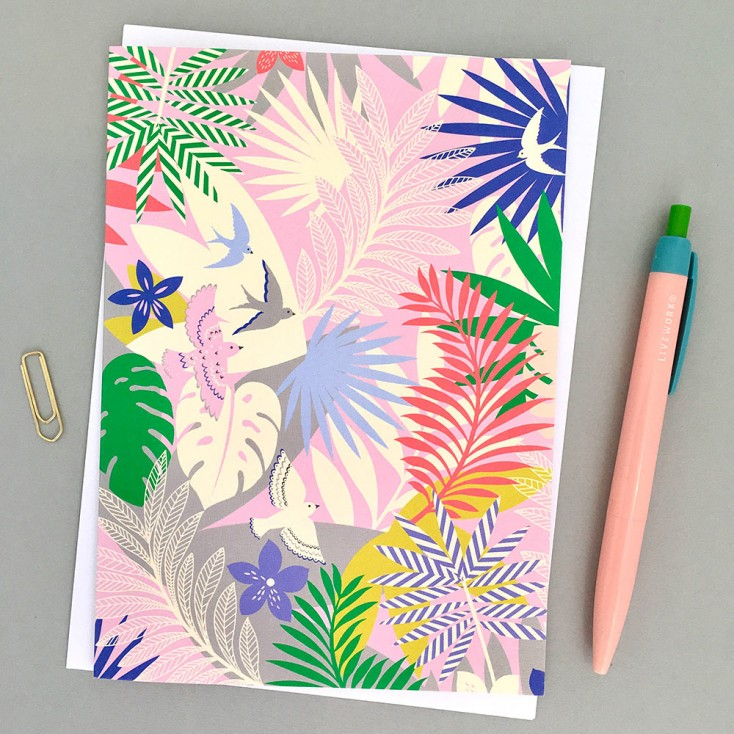 Elvira Van Vredenburgh 'Tropicana in Pink' Greeting Card