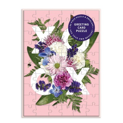 Say It With Flowers - XOXO Greeting Card Puzzle
