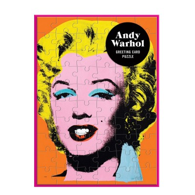Andy Warhol Marilyn Monroe Greeting Card Puzzle