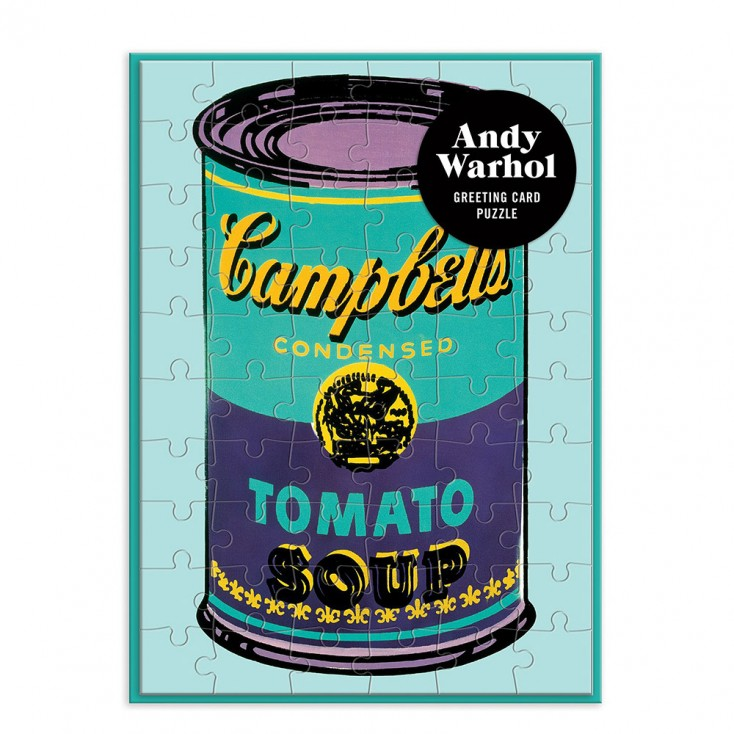 Andy Warhol Soup Can Greeting Card Puzzle
