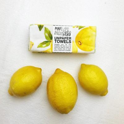 Marley's Monsters UNpaper® Towels Set of 6 - Vintage Lemon