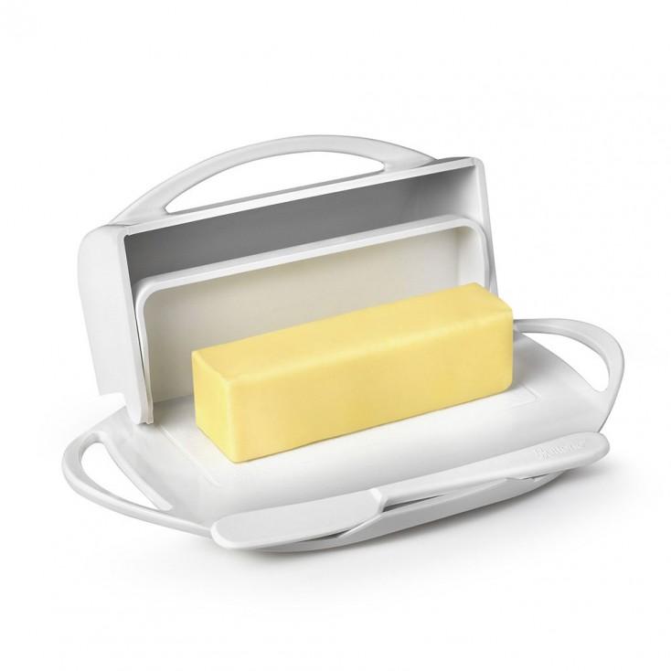 Butterie Flip-Top Butter Dish - White