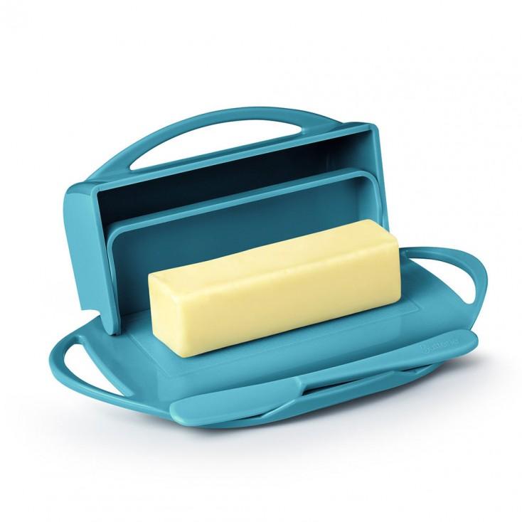 Butterie Flip-Top Butter Dish - Aqua
