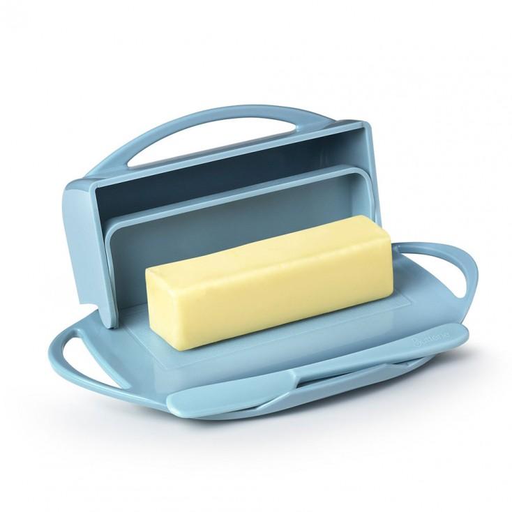 Butterie Flip-Top Butter Dish - Light Blue
