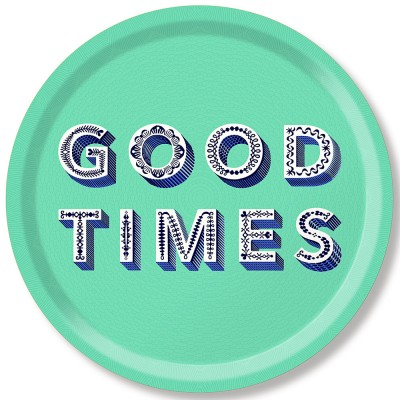 Asta Barrington Good Times Round Tray By Jamida