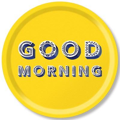 Asta Barrington Good Morning Round Tray By Jamida