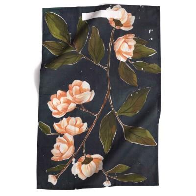 1canoe2 Night Magnolia Tea Towel