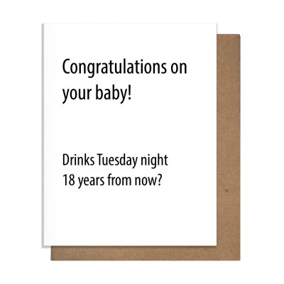 Pretty Alright Goods Baby Drinks Greeting Card