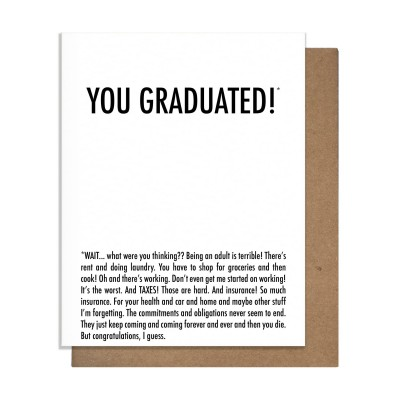 Pretty Alright Goods Graduated Greeting Card