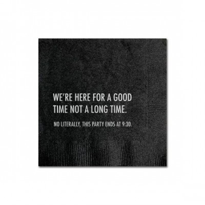 Here For a Good Time Cocktail Napkins