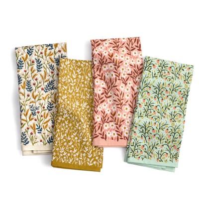 1canoe2 Tiny Floral Tea Towel Set
