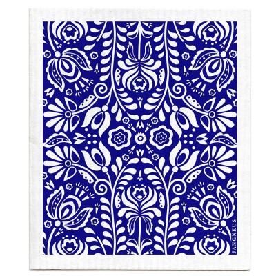 Jangneus Dishcloth - Blue Scandi Bloom