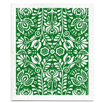 Jangneus Dishcloth - Green Scandi Bloom