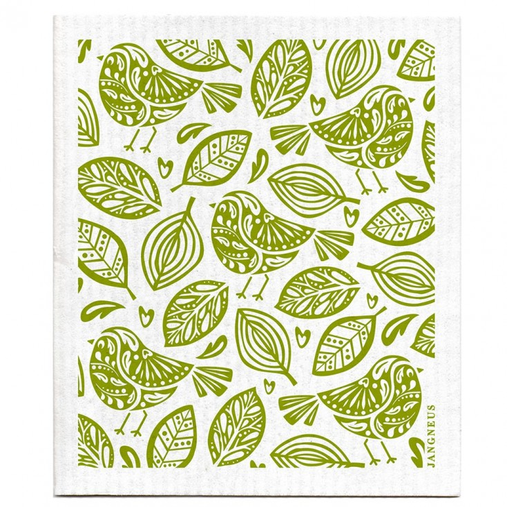 Jangneus Dishcloth - Green Robin