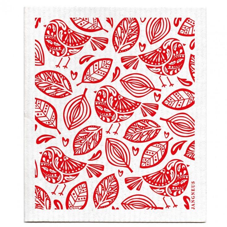 Jangneus Dishcloth - Red Robins