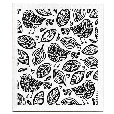 Jangneus Dishcloth - Black Robins