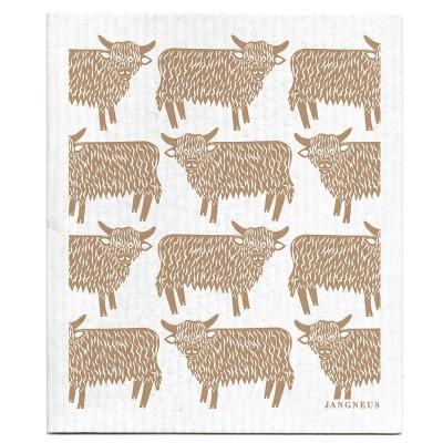 Jangneus Dishcloth - Sand Highland Cow