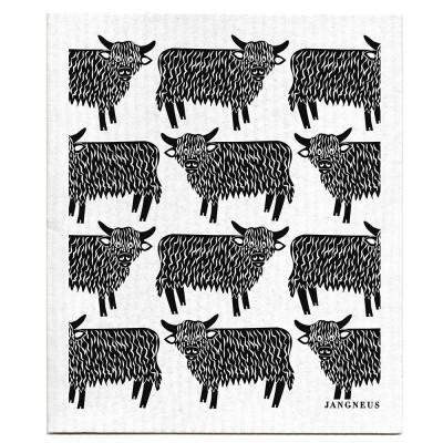 Jangneus Dishcloth - Black Highland Cow