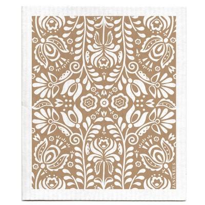 Jangneus Dishcloth - Sand Scandi Bloom