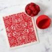 Jangneus Dishcloth - Red Scandi Bloom