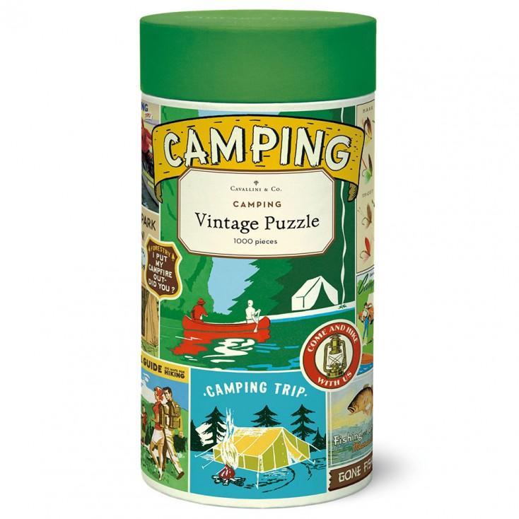 Cavallini & Co Camping 1000 Piece Jigsaw