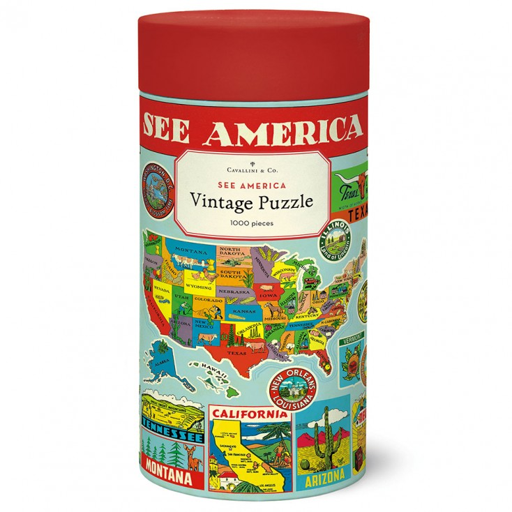 Cavallini & Co See America 1000 Piece Jigsaw