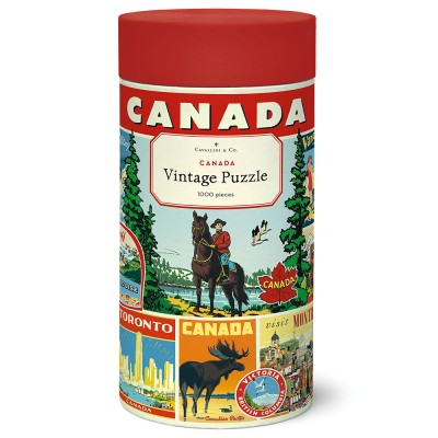 Cavallini & Co Canada 1000 Piece Jigsaw