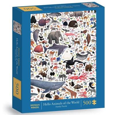 Hello Animals of the World 500 Piece Jigsaw