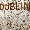 Brandthout Dublin Wooden Wall Citymap