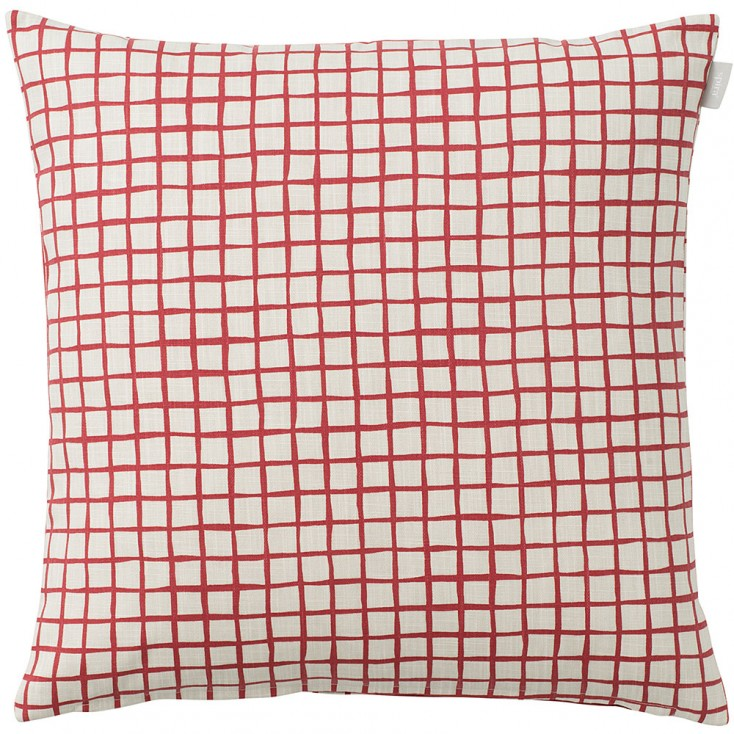 Spira of Sweden Ruta Cushion Cover - Cranberry Red